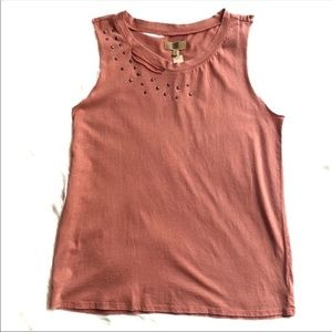 True Craft NEW Coral Distresesed Tank Size M
